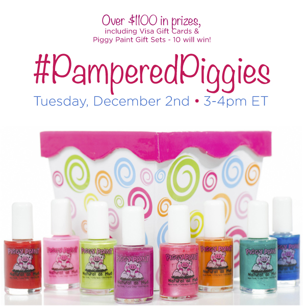 $1,000+ in Prizes at #PamperedPiggies Twitter Party Dec. 2 3-4pm ET,#TwitterParty,#ad,sweepstakes on Twitter