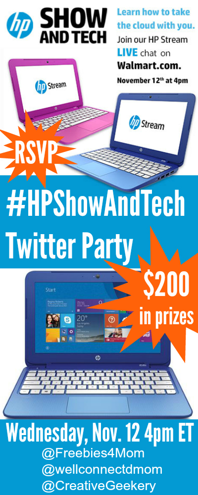 $200 in Prizes at #HPShowAndTech Twitter Party Nov. 12 4pm ET