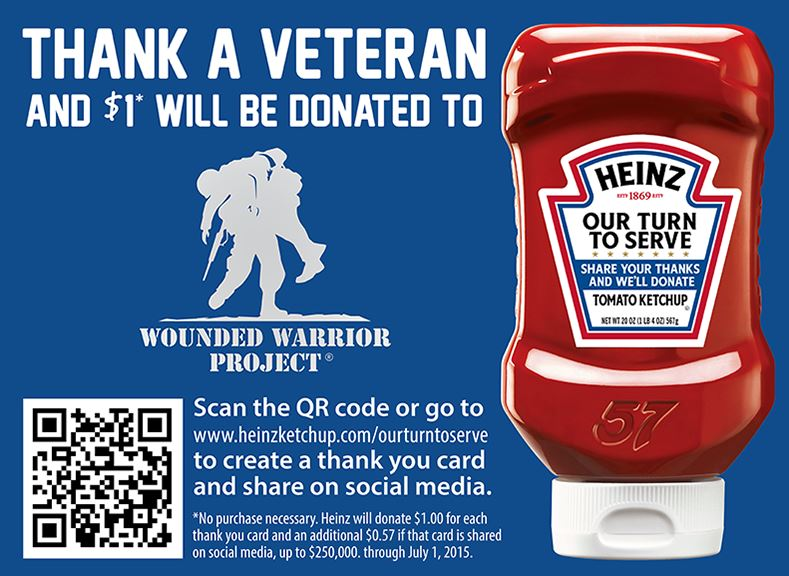 Heinz Donates When You Thank a Veteran