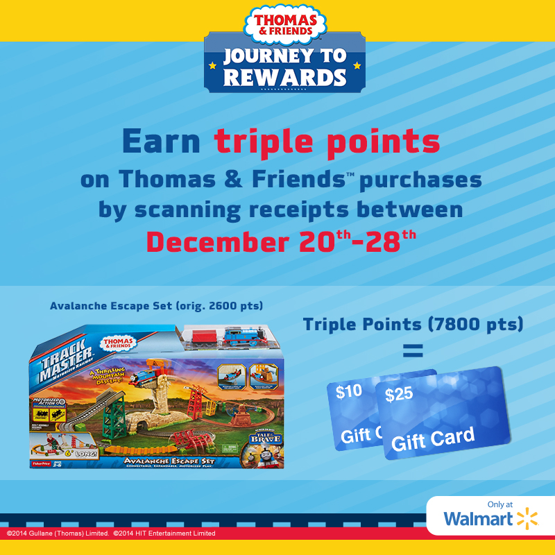 Earn Triple Points on Thomas & Friends