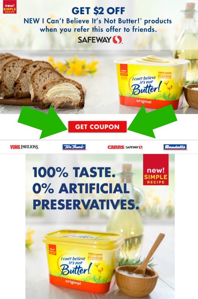 Print $2.00 I Can't Believe It's Not Butter!® Coupon