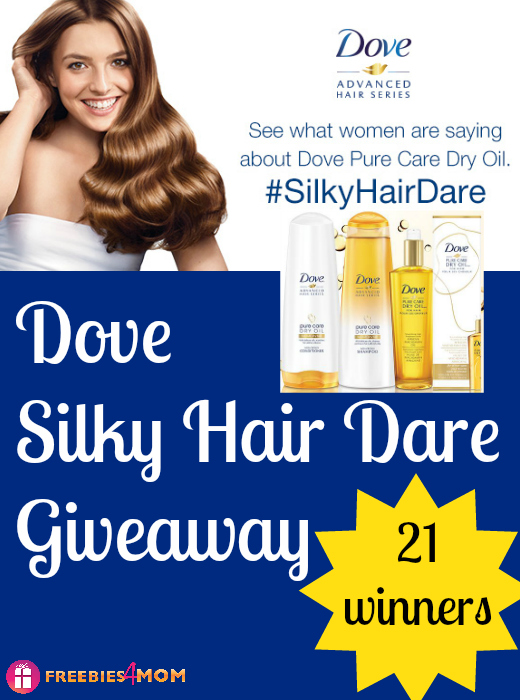 Dove Silky Hair Dare Giveaway (21 winners)