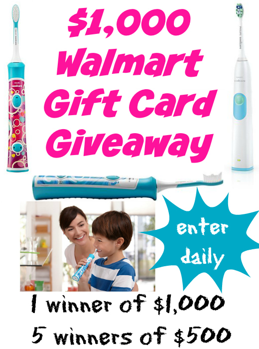 $1,000 Walmart Gift Card Giveaway ~ #SonicareSmiles for the Holiday