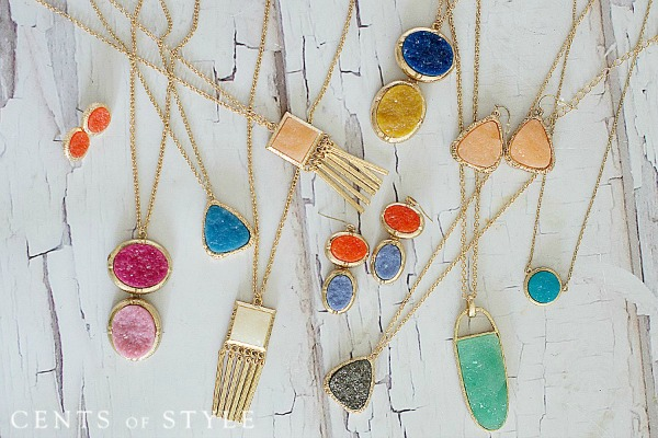 $6.95 Druzy Necklace or Earrings with Free Shipping