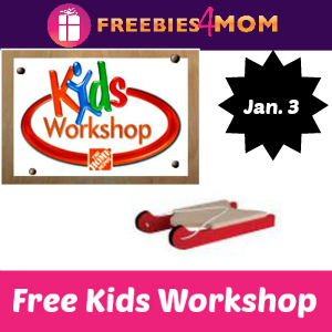 Free Kids Workshop Jan. 3 at Home Depot