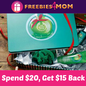 Spend $20 at The Body Shop, Get $15 Gift Card Back