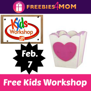 Free Kids Workshop at Home Depot Feb. 7