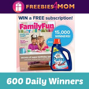 Sweeps Win a Family Fun Magazine Subscription