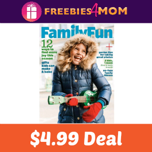 Magazine Deal: Family Fun $4.99 ($0.50/issue)