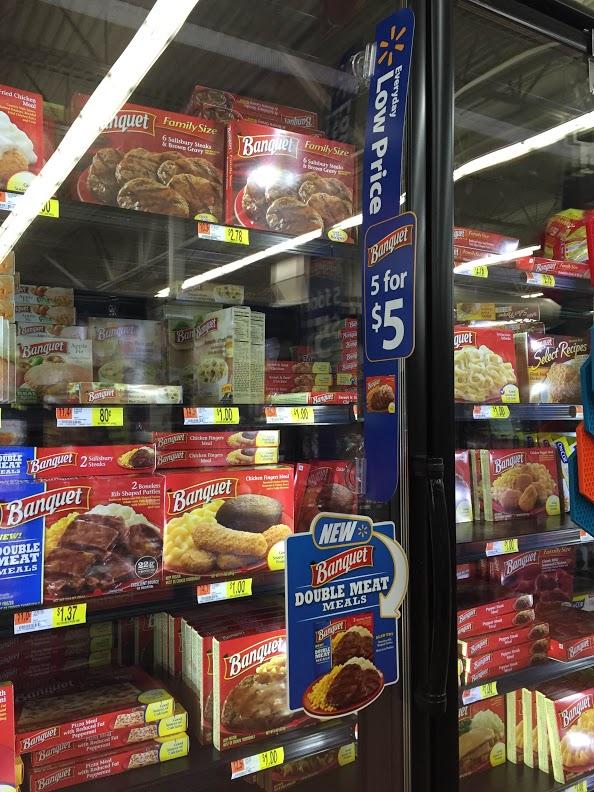 banquet meals on rollback for 080 at walmart