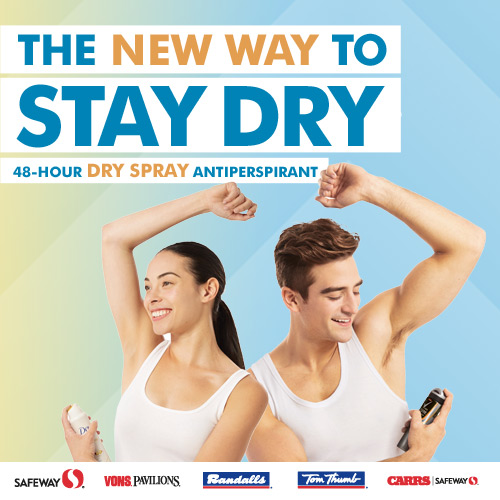 Stay Dry with Dry Spray Antiperspirant