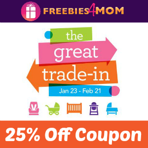 Coupon 25% when you 'Trade-In' at Babies R Us