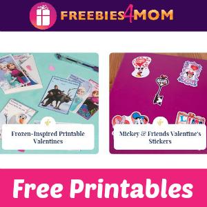Free Disney Valentine's Day Printables