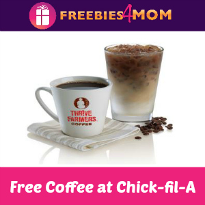 Free Hot or Iced Coffee at Chick-fil-A