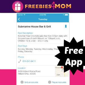 Free iTunes App: Kids Eat Free Restaurant Finder