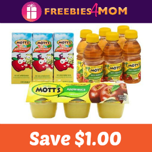 Coupon: Save $1.00 on one Mott's Juice or Sauce