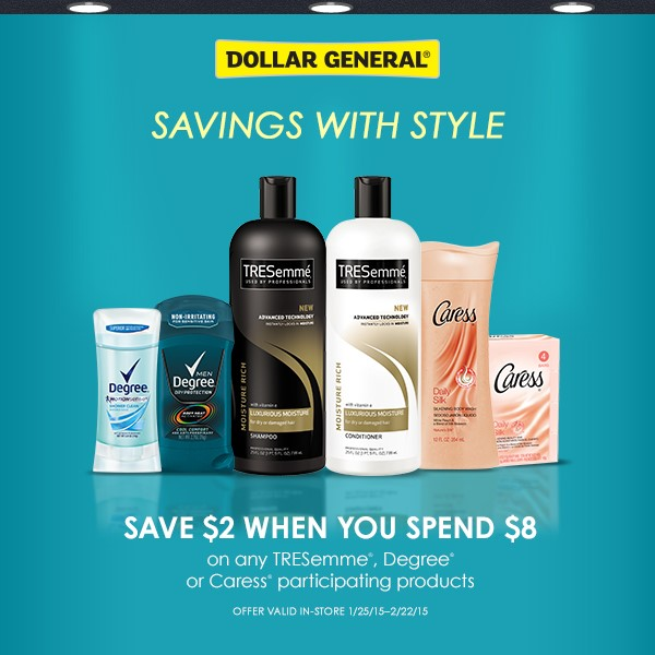 Savings with Style at Dollar General ~ Save $2 when you spend $8