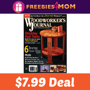 Magazine Deal: Woodworker's Journal $7.99