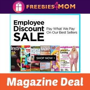 Magazine Deal: Employee Discount Sale