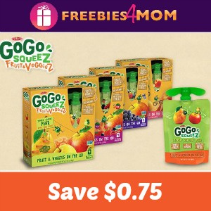 Coupon: Save $0.75 on GoGo squeeZ