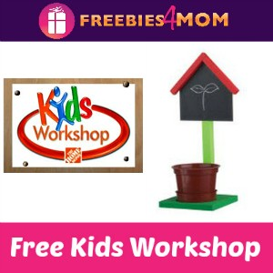 Free Kids Workshop at Home Depot April 4