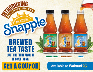 Snapple Straight Up Tea Coupon