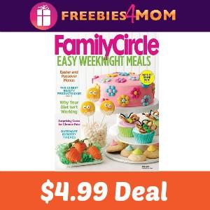 Magazine Deal: Family Circle $4.99