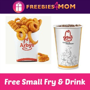 Free Small Fry & Drink with purchase at Arby's
