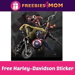 Free Harley-Davidson/Marvel Sticker