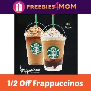 Starbucks 1/2 Off Frappuccinos Starts Friday