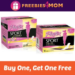 BOGO Free Playtex Sport Pads, Liners or Combo
