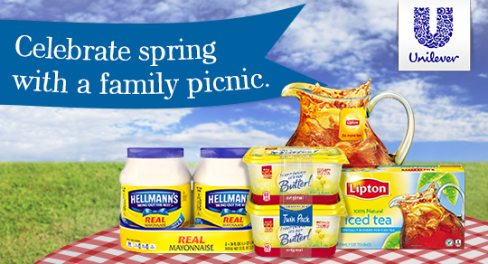 Spring Family Picnic with Unilever products from Sam's Club
