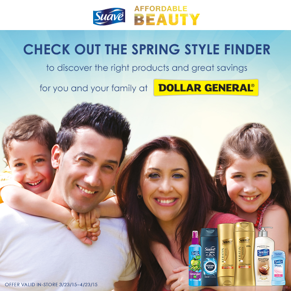 Spring Style Finder at Dollar General Suave Affordable Beauty