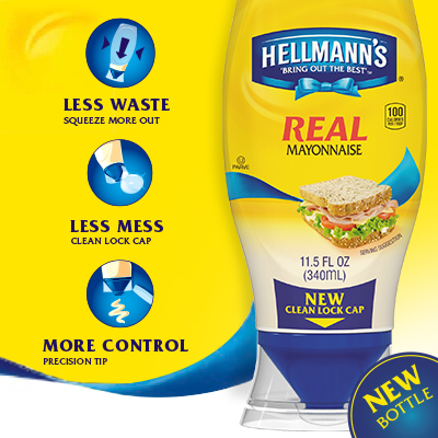Hellmann's Mayonnaise Squeeze Bottle Design