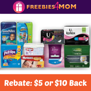 Rebate: $5 or $10 Back on Kimberly-Clark