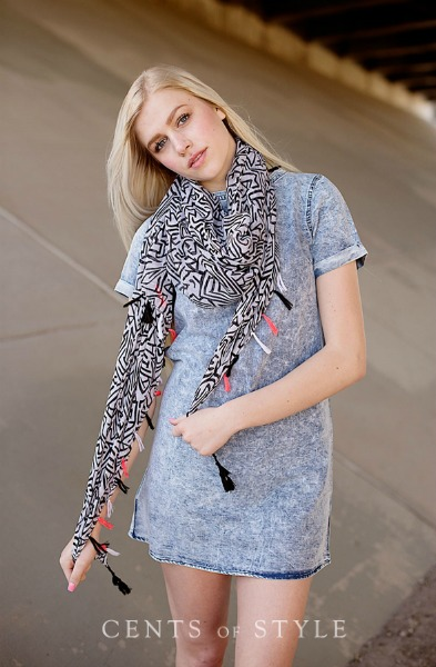 Abstract Summer Scarf $7.95