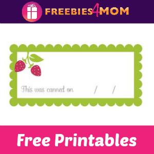 Free Printables: Canning Jar Labels