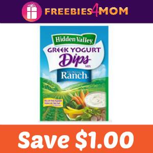 Coupon: $1.00 off Hidden Valley Greek Yogurt