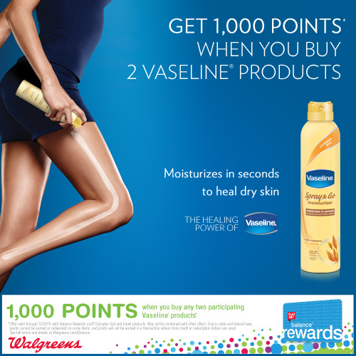 Vaseline® Spray & Go Deal at Walgreens