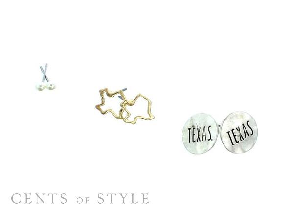 $7.95 Set of 3 Stud Earrings (+Scarf Deal)