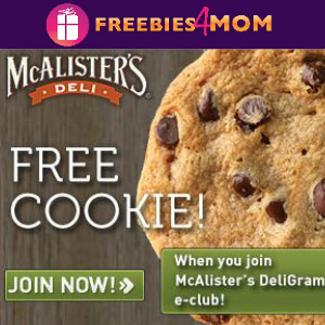 Free Cookie at McAlister's Deli