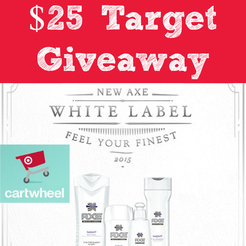 $25 Target Gift Card Giveaway Winner ~ AXE® White Label