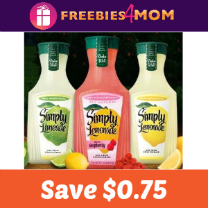 Coupon: $0.75 Off Simply Lemonade or Limeade