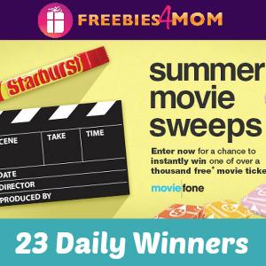 Sweeps Starburst Moviefone Summer