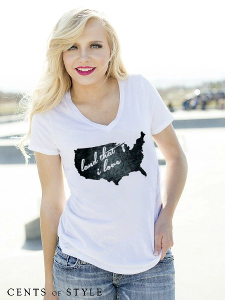 Land That I Love T-shirt $14.95