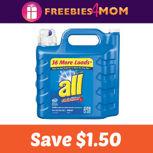 Coupon: $1.50 off one all product