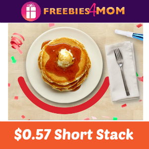 $0.57 Short Stack at IHOP Tomorrow