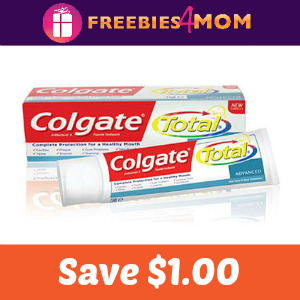 Coupon: $1.00 off any Colgate Toothpaste