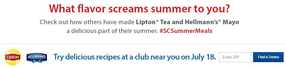 Sam's Club #SCSummerMeals Summer Recipes Demo