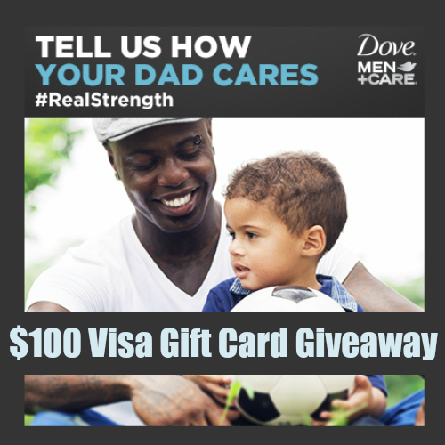 $100 Visa Gift Card Winner ~ Dove Men+Care #RealStrength